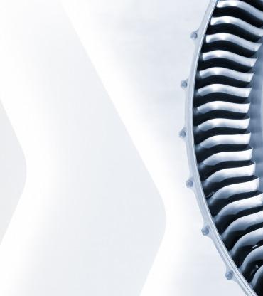blue toned close-up of jet engine blades